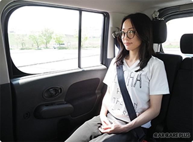 各車のガラス別の紫外線強度を検証(イメージ)