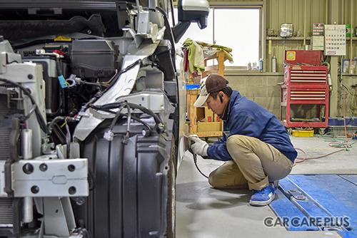 修理内容や作業時間、仕上がりをスタッフ一人一人が意識して作業にあたる