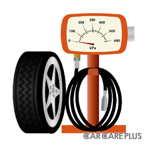 プロショップで、定期的に、タイヤの「空気圧点検」を行おう