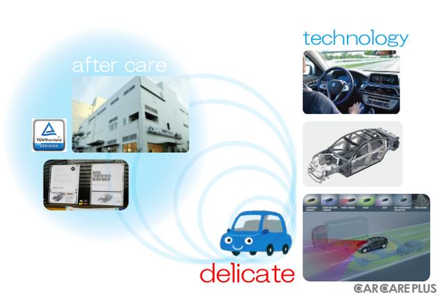 高度なテクノロジーが組み込まれたBMWの車両は、アフターケア(メンテナンス・修理)の体制が構築されている
