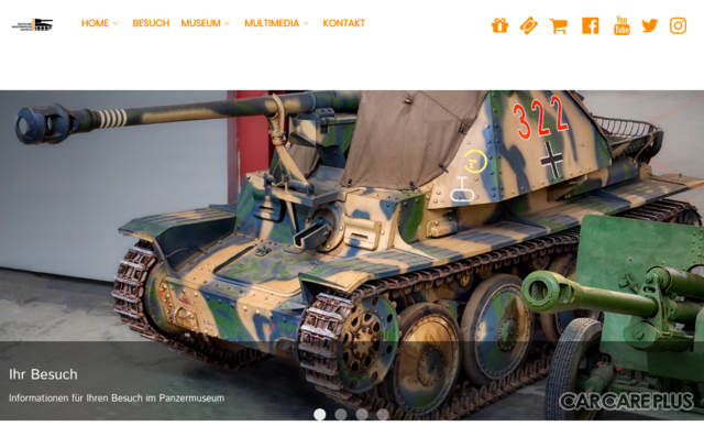 ドイツのムンスターにある戦車博物館「Deutsches Panzermuseum Munster」Webサイト