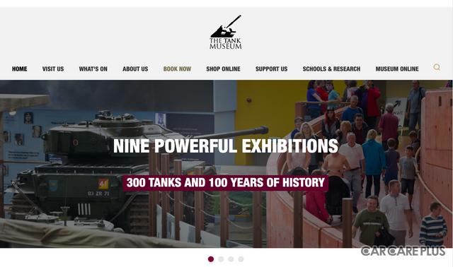 26ヶ国、約300両の車輛が展示されているイギリスの戦車博物館「The Tank Museum」Webサイト