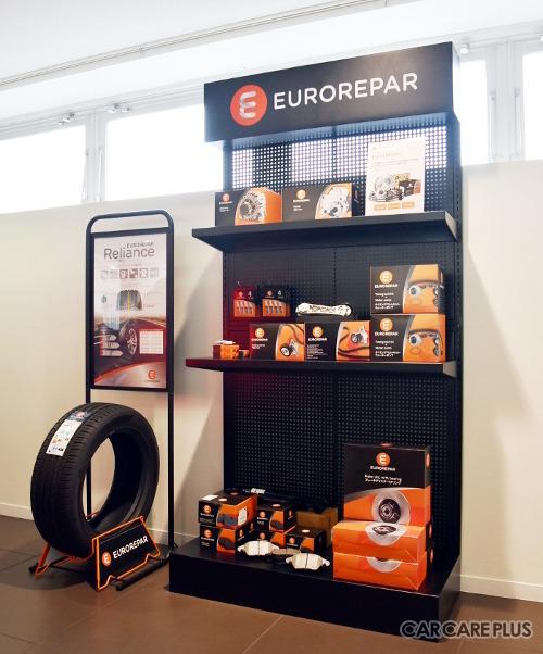 国内のプジョー、シトロエン、DSディーラーでは「ユーロレパー」の専用ラックを順次展示